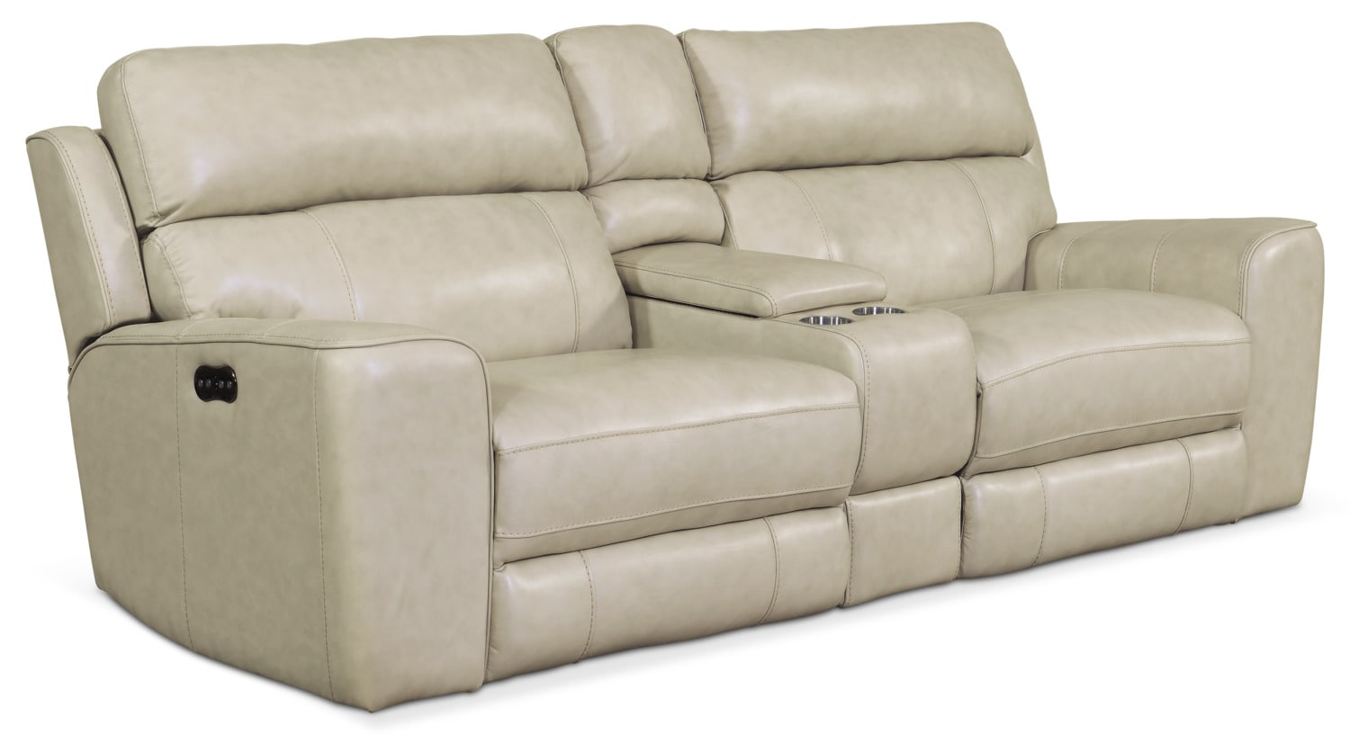 Living Room Furniture - Newport 3-Piece Power Reclining Sofa - Cream