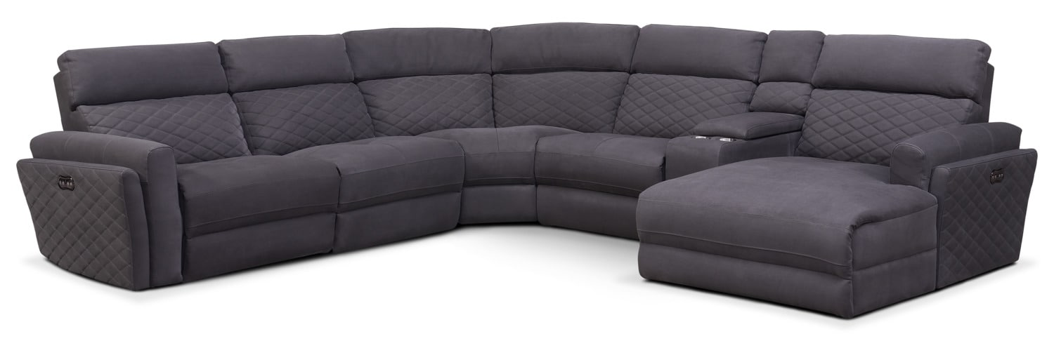 Catalina 6-Piece Power Reclining Sectional with Right-Facing Chaise and 1 Recliner - Gray by One80  sc 1 st  Value City Furniture & Catalina 6-Piece Power Reclining Sectional with Right-Facing ... islam-shia.org