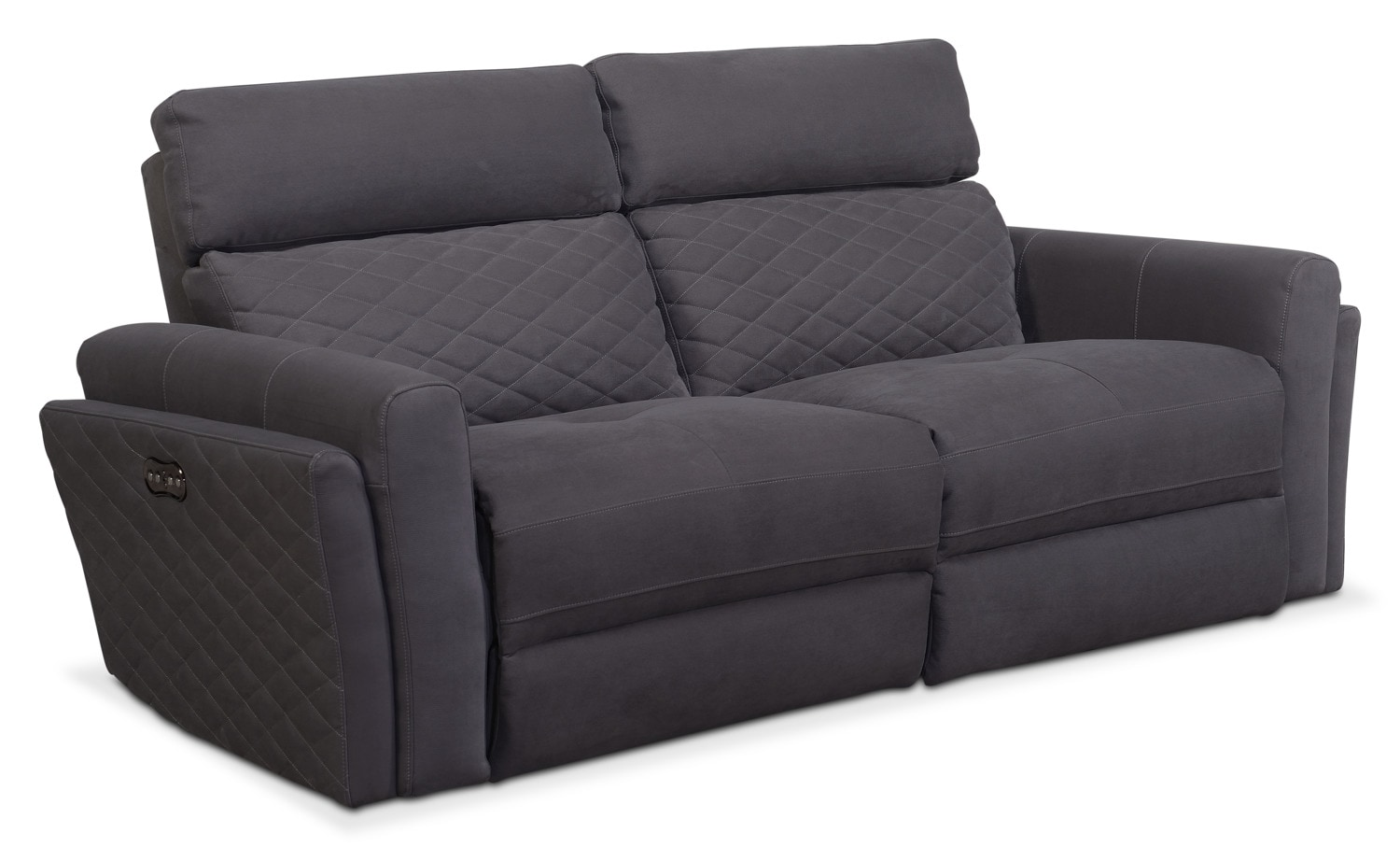 Living Room Furniture - Catalina 2-Piece Power Reclining Sofa - Gray