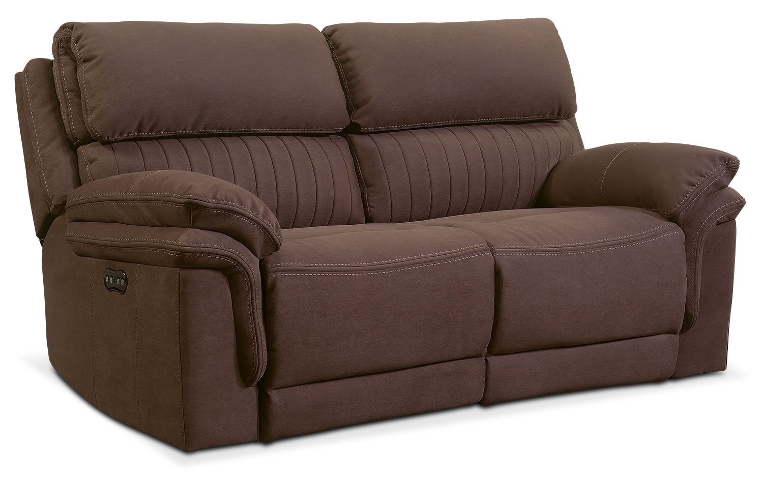 ... Power Reclining Loveseat - Mocha. Hover to zoom  sc 1 st  Value City Furniture & Monterey 2-Piece Power Reclining Loveseat - Mocha | Value City ... islam-shia.org