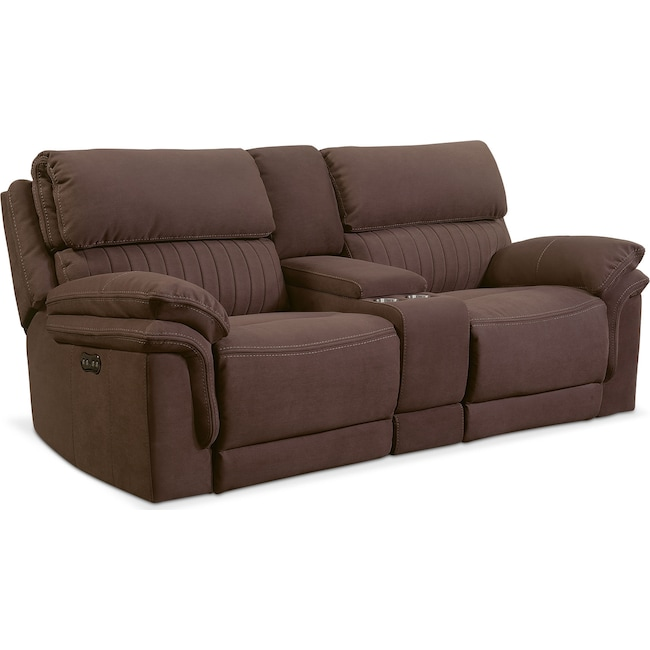 Living Room Furniture Monterey 3 Piece Reclining Sofa With Console