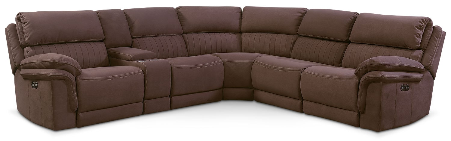 Living Room Furniture - Monterey 6-Piece Power Reclining Sectional with 3 Reclining Seats -  sc 1 st  Value City Furniture & Monterey 6-Piece Power Reclining Sectional with 3 Reclining Seats ... islam-shia.org