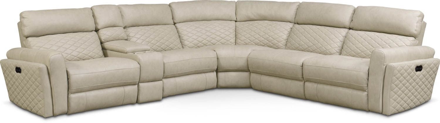 Living Room Furniture - Catalina 6-Piece Dual-Power Reclining Sectional with 2 Reclining Seats