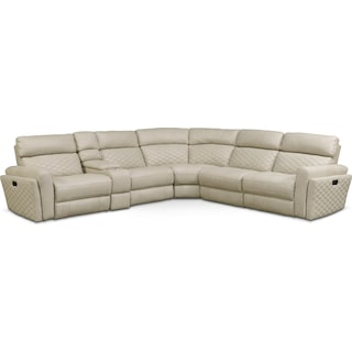 Catalina 6-Piece Power Reclining Sectional with 2 Reclining Seats