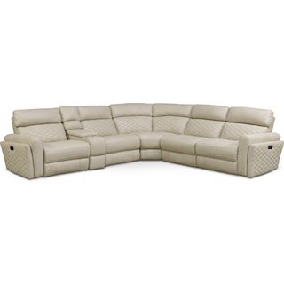 Catalina 6-Piece Power Reclining Sectional with 3 Reclining Seats