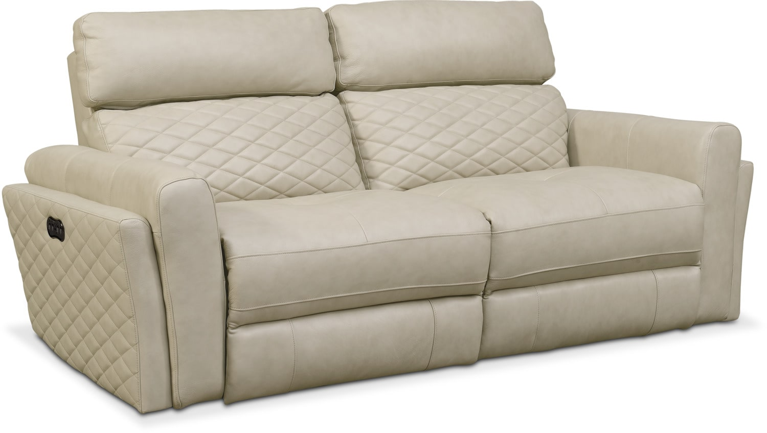 Living Room Furniture - Catalina 2-Piece Power Reclining Sofa - Cream