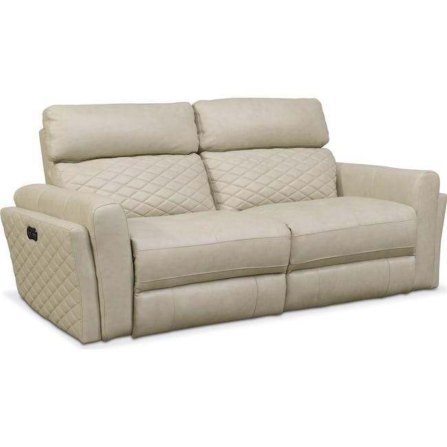 Living Room Furniture - Catalina 2-Piece Power Reclining Sofa - Cream