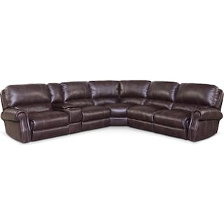 Dartmouth 6-Piece Power Reclining Sectional with 3 Reclining Seats