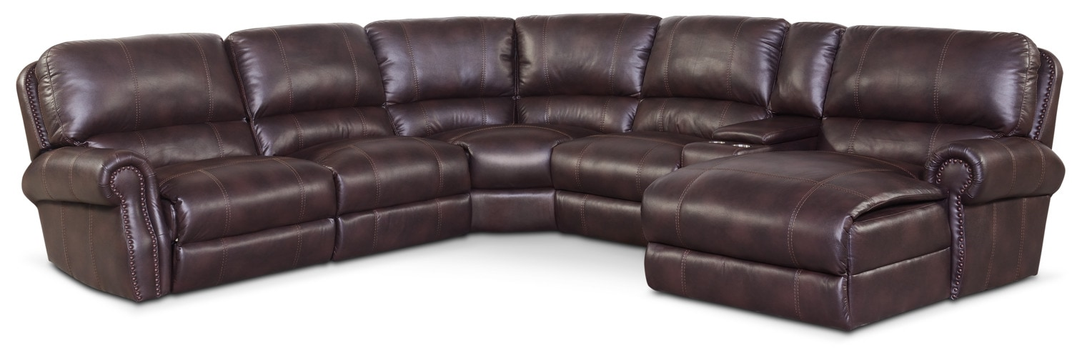 Dartmouth 6 Piece Power Reclining Sectional W Right