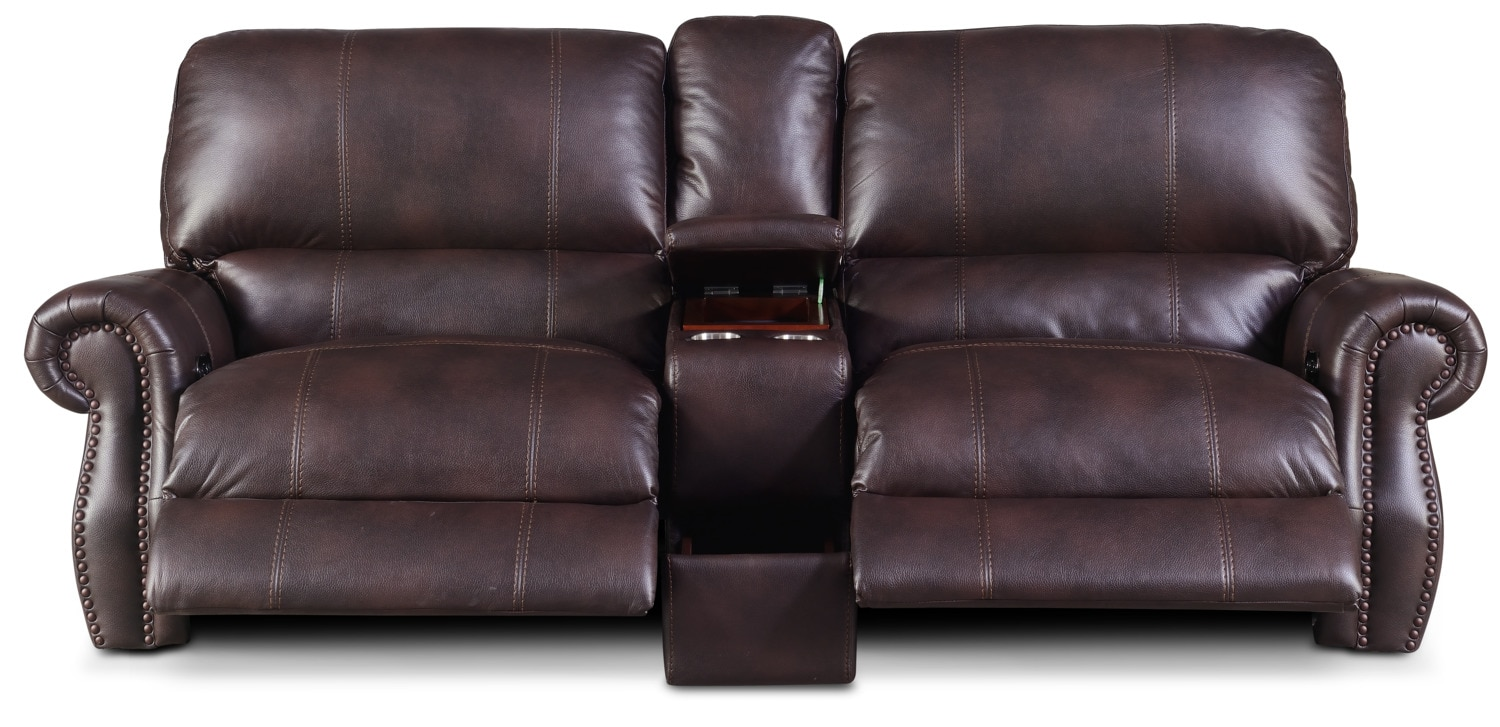 Dartmouth 3 Piece Power Reclining Sofa With Console