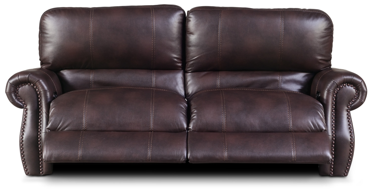 Dartmouth 2 Piece Power Reclining Sofa Burgundy Value