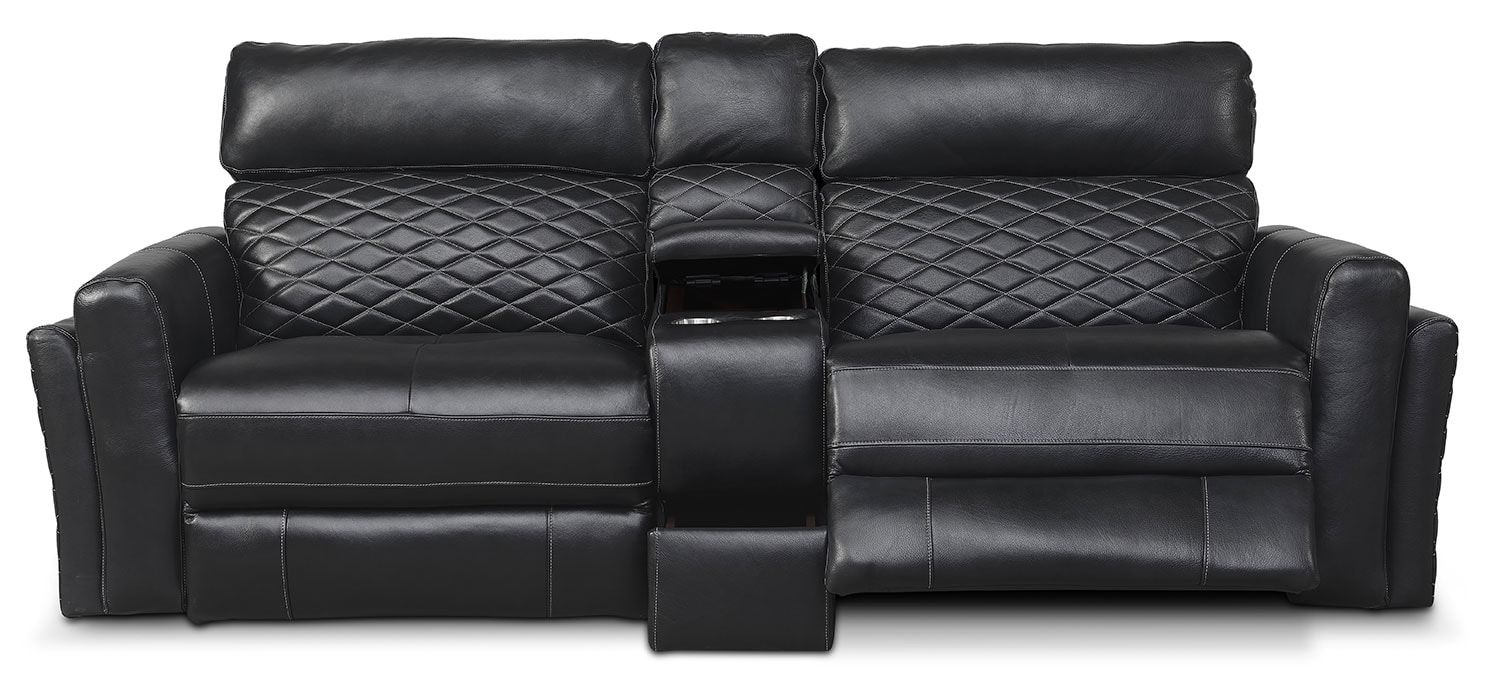 Sofa With Console Newport 3 Piece Reclining Sofa With