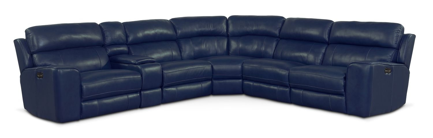 Hover to zoom  sc 1 st  Value City Furniture & Newport 6-Piece Power Reclining Sectional with 3 Reclining Seats ... islam-shia.org