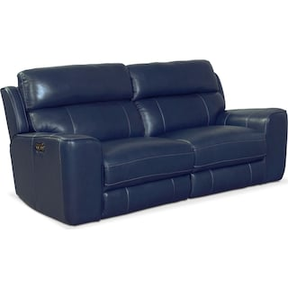 Newport 2-Piece Power Reclining Sofa - Blue