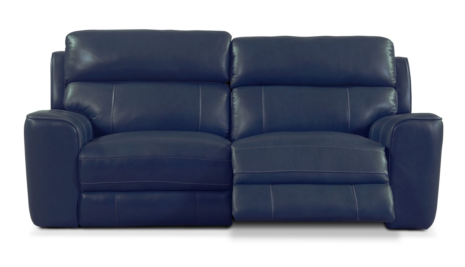Newport 2 Piece Power Reclining Sofa Blue Value City