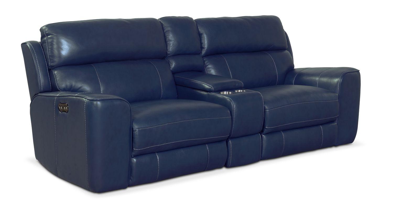 Newport 3-Piece Power Reclining Sofa - Blue