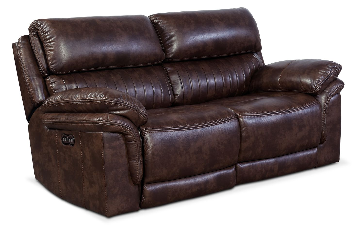 Monterey 2-Piece Power Reclining Loveseat - Chocolate  sc 1 st  Value City Furniture : red leather sectional value city - Sectionals, Sofas & Couches