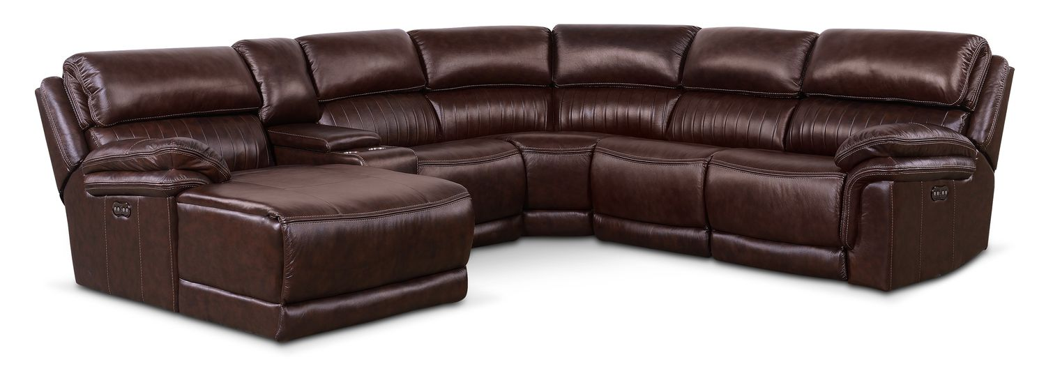 Monterey 6 Piece Power Reclining Sectional With Left