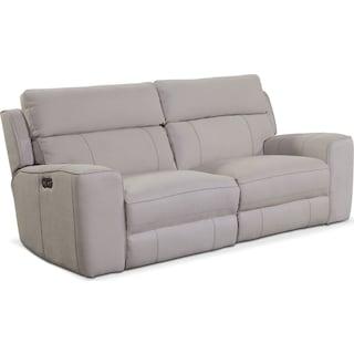 Newport 2-Piece Power Reclining Sofa - Light Gray