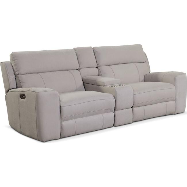 Gray Reclining Sofa Tulen Gray Reclining Sofa By Ashley