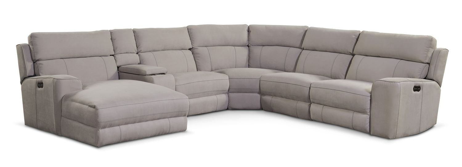 The Newport Power Sectional Collection - Light Gray