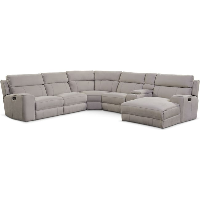 rooms frontroom recliner product yellowstone sectional reclining furnishings