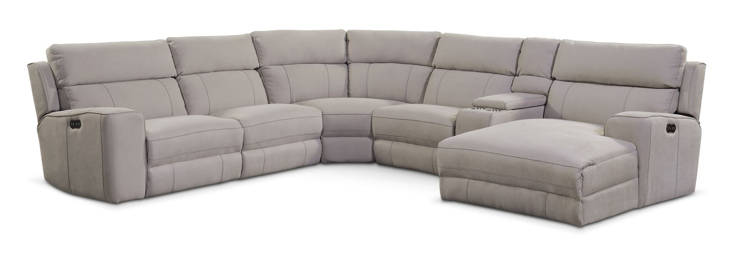 Living Room Furniture - Newport 6-Piece Power Reclining Sectional with Right-Facing Chaise  sc 1 st  Value City Furniture & Newport 6-Piece Power Reclining Sectional with Right-Facing Chaise ... islam-shia.org