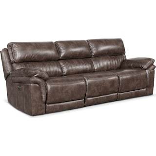 Monterey 3-Piece Power Reclining Sofa - Brown