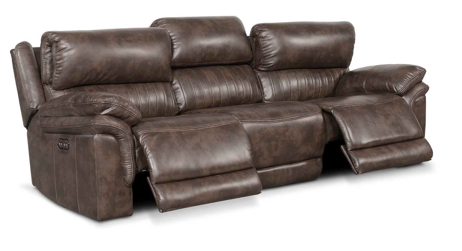 Hover/Touch to Zoom  sc 1 st  Value City Furniture & Monterey 3-Piece Power Reclining Sofa - Brown | Value City Furniture islam-shia.org