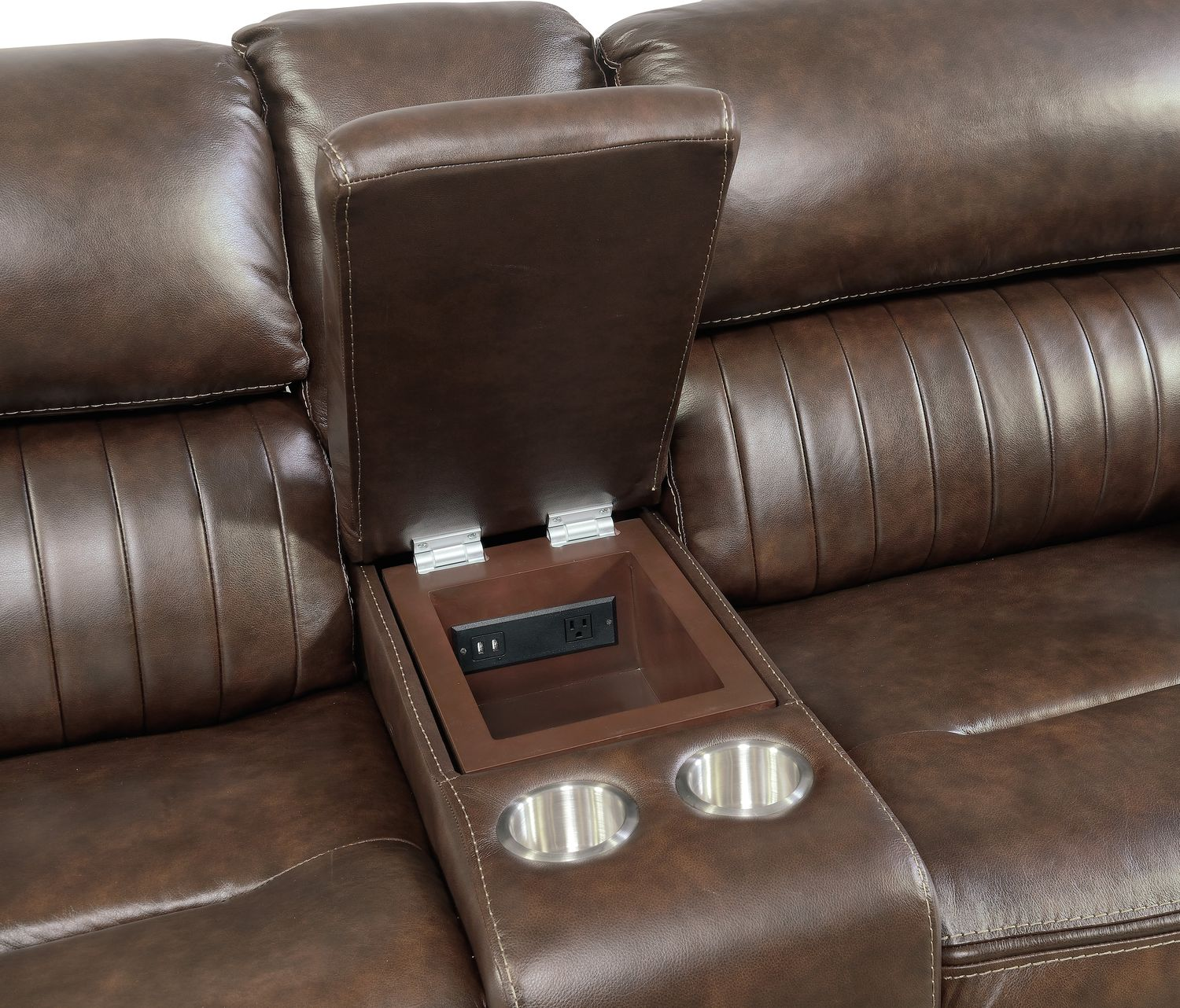 Monterey 6 Piece Power Reclining Sectional with 3 Reclining Seats