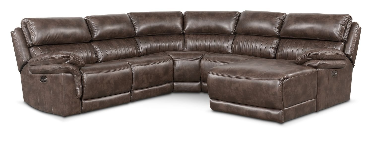 Monterey 5 piece power reclining sectional with right for 5 piece sectional sofa with chaise
