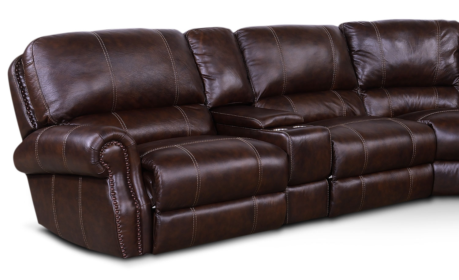 Dartmouth 6 Piece Power Reclining Sectional With 2
