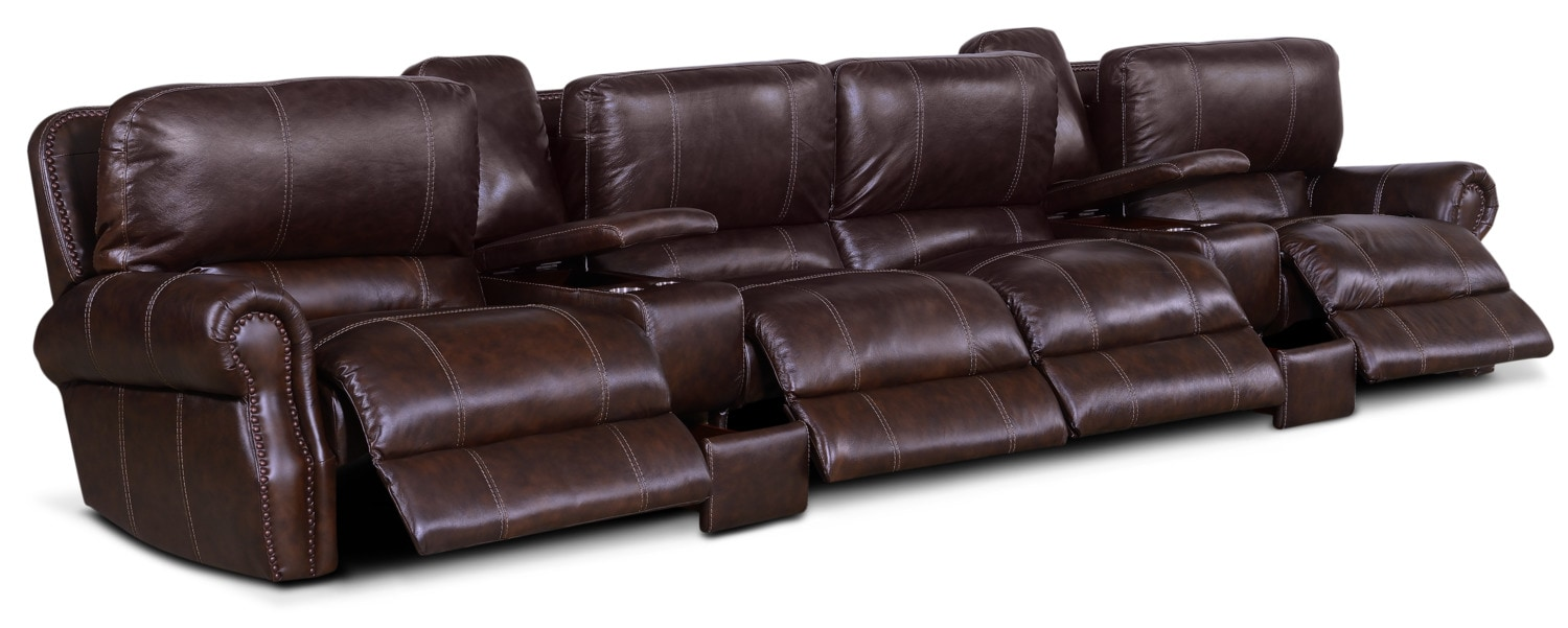 Click to change image.  sc 1 st  Value City Furniture & Dartmouth 6-Piece Power Reclining Sectional with 4 Reclining Seats ... islam-shia.org