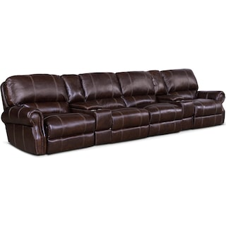 Dartmouth 6-Piece Power Reclining Sectional with 4 Reclining Seats and Chaise
