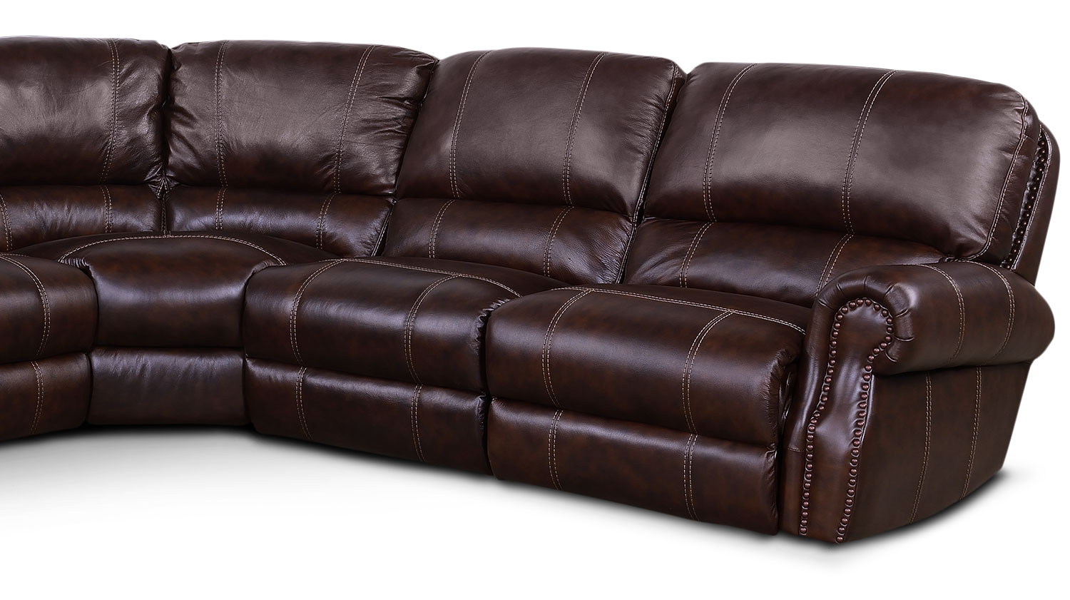 Dartmouth 6 Piece Power Reclining Sectional W Left Facing