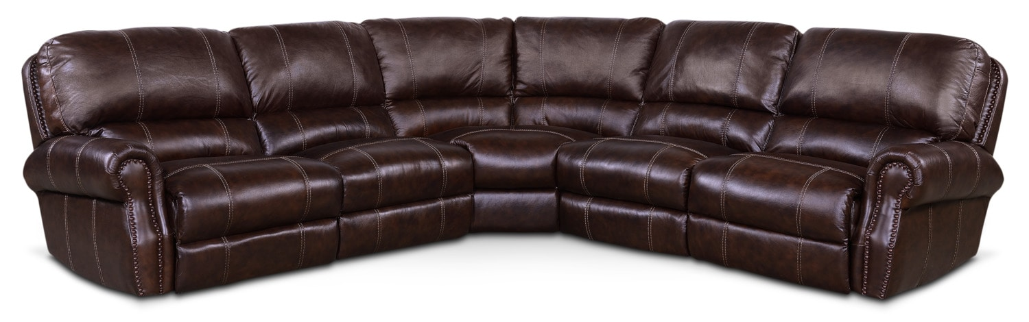 Dartmouth 5 Piece Power Reclining Sectional With 3