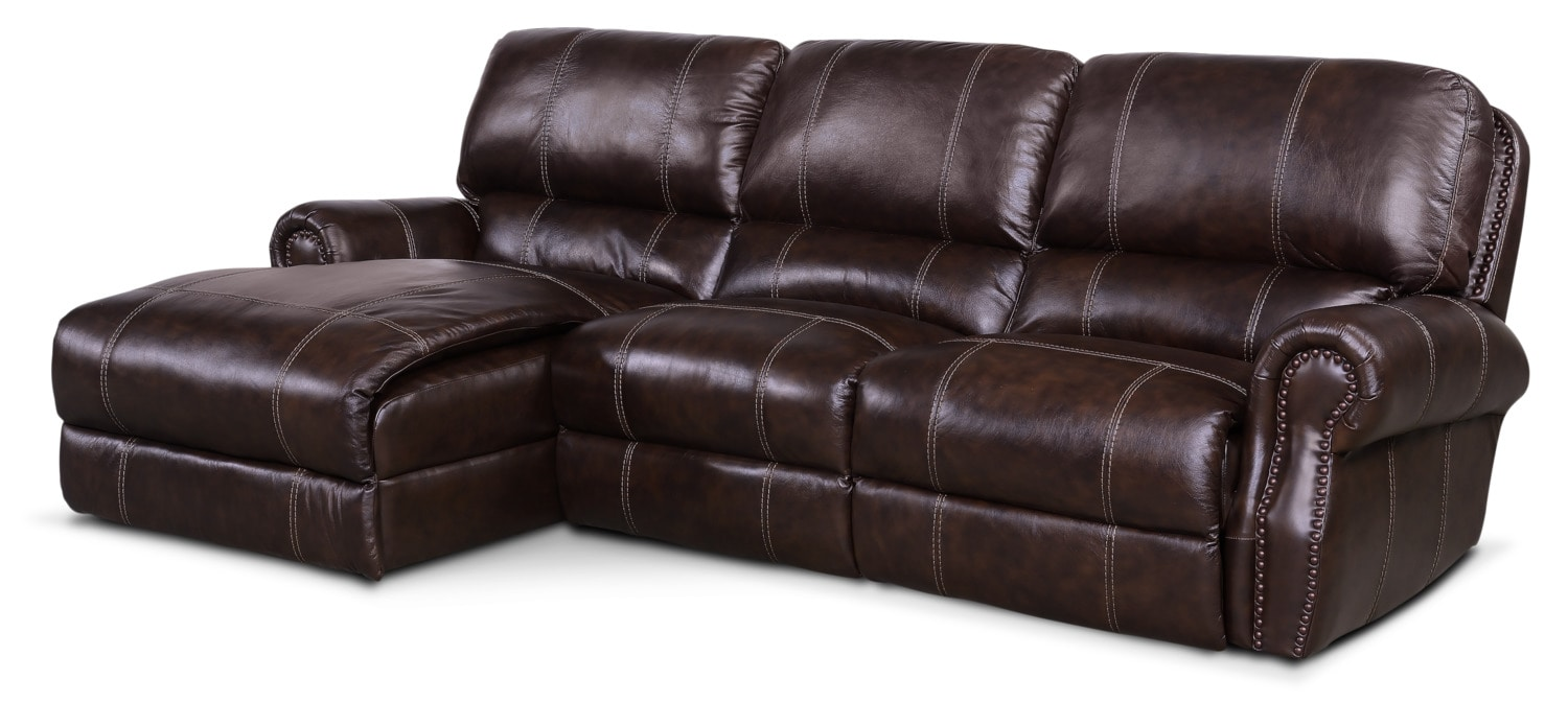 Dartmouth 3 Piece Power Reclining Sectional With Left