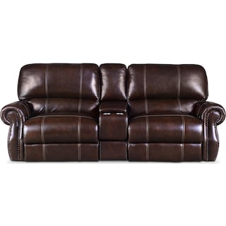 Dartmouth 3-Piece Dual-Power Reclining Sofa with Console