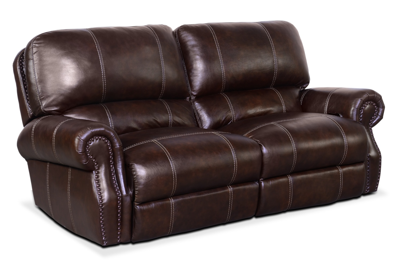Living Room Furniture - Dartmouth 2-Piece Power Reclining Sofa - Chocolate