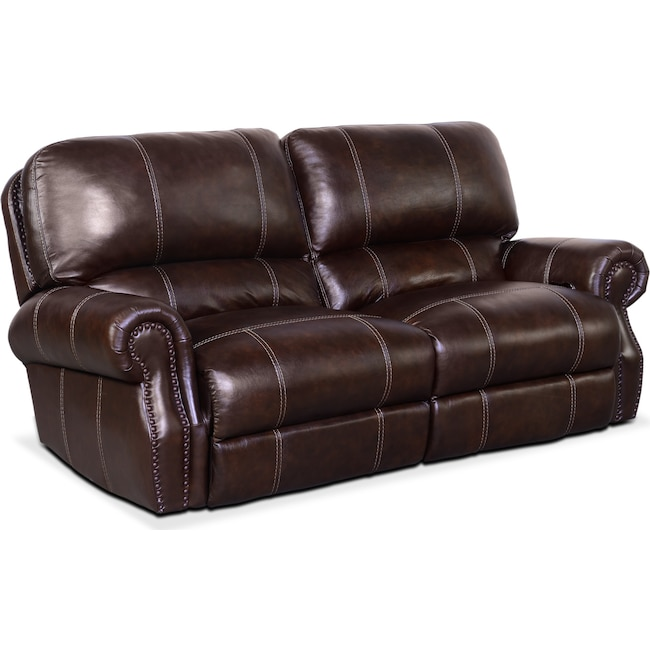 Living Room Furniture - Dartmouth 2-Piece Power Reclining Sofa - Chocolate