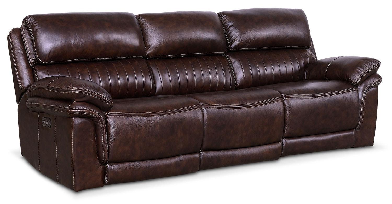 Monterey 3-Piece Power Reclining Sofa - Chocolate
