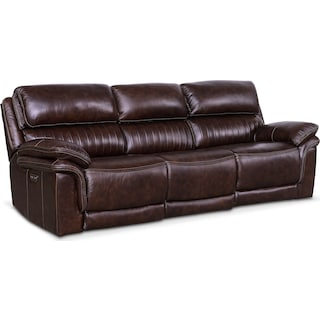 Monterey 3-Piece Power Reclining Sofa - Chocolate