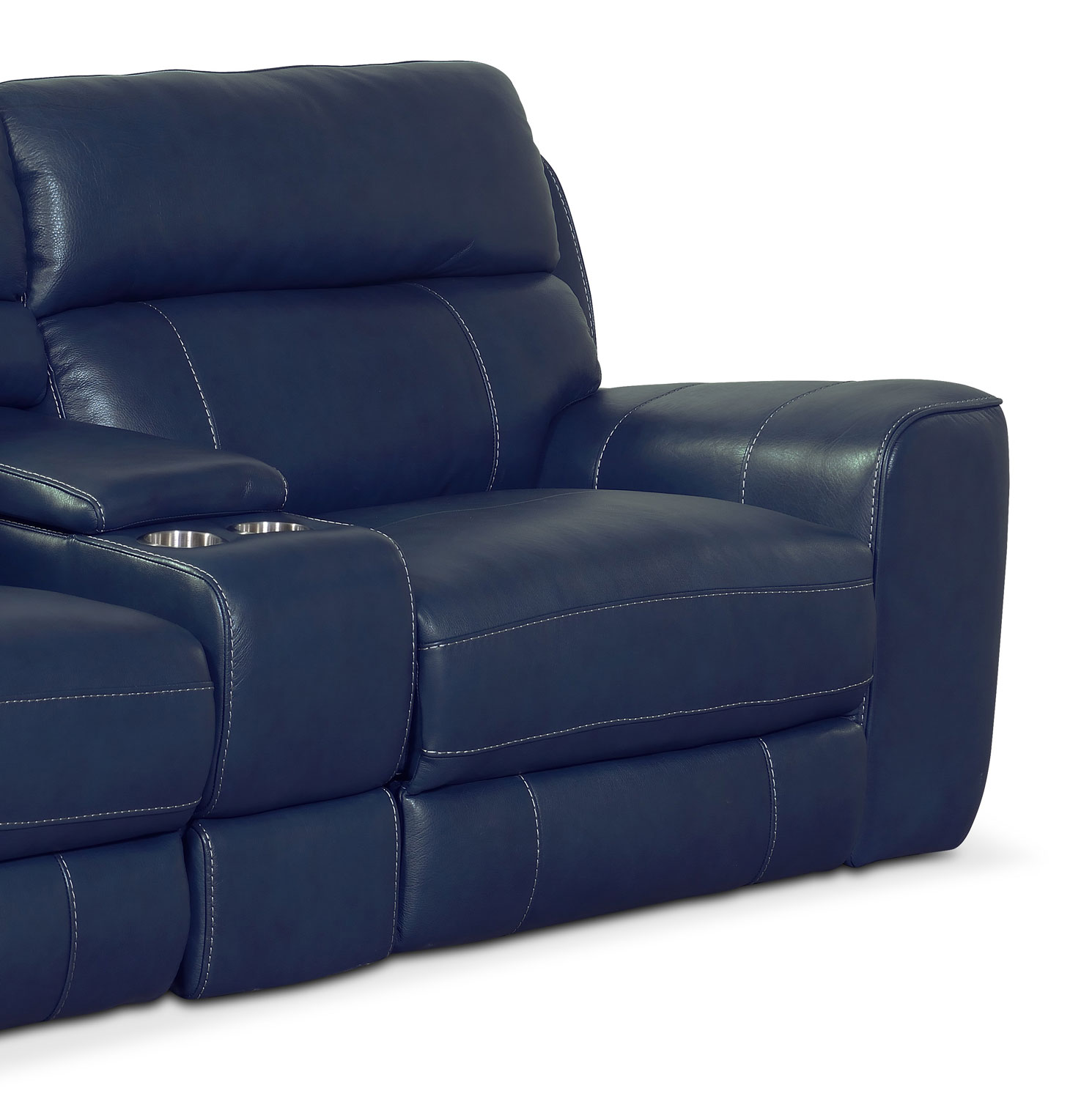 Newport 3 Piece Power Reclining Sofa With Console Value City