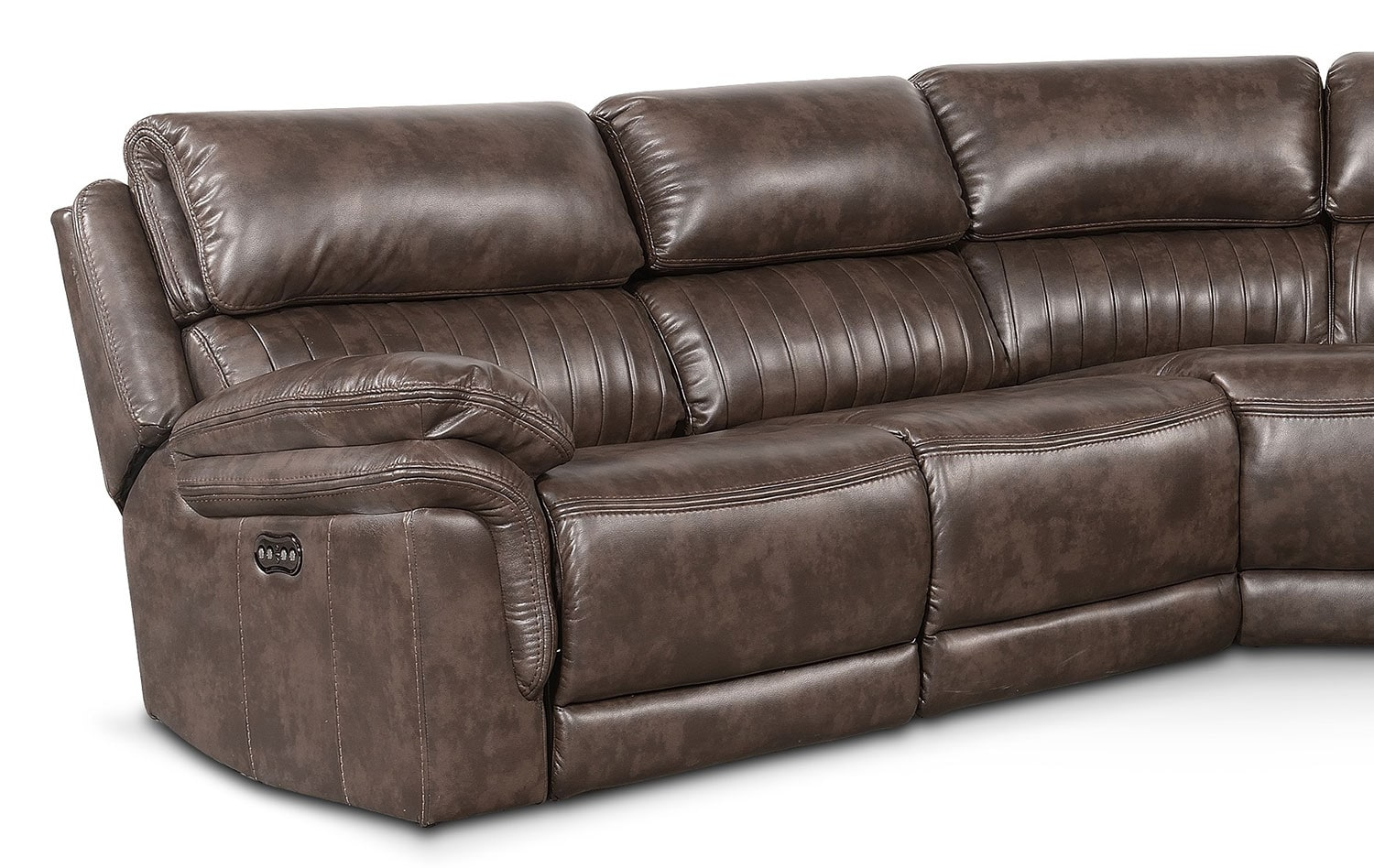 Monterey 5 Piece Power Reclining Sectional With 2