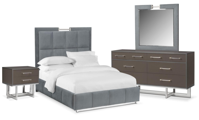 Sonata 6-Piece King Bedroom Set - Gray