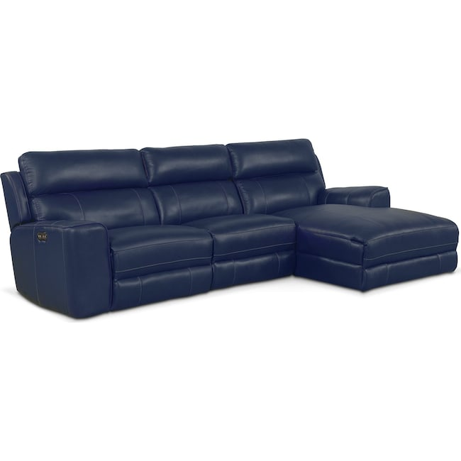 Living Room Furniture Newport 3 Piece Reclining Sectional With Chaise