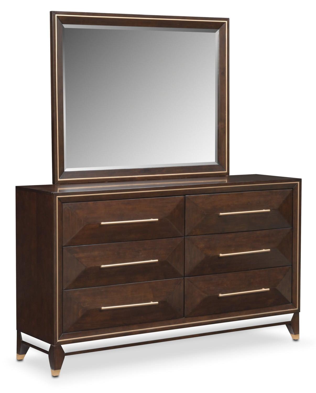 Kenton Dresser and Mirror - Cherry