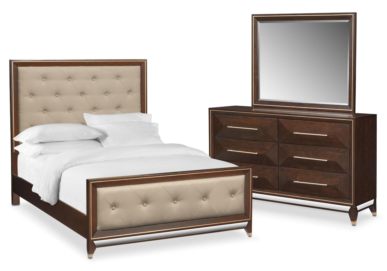 Bedroom Furniture - Kenton 5-Piece King Bedroom Set - Cherry