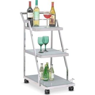 Trente Wine Cart - Stainless Steel
