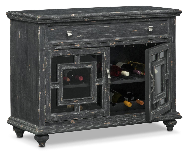 Regina Wine Cabinet - Black | Value City Furniture